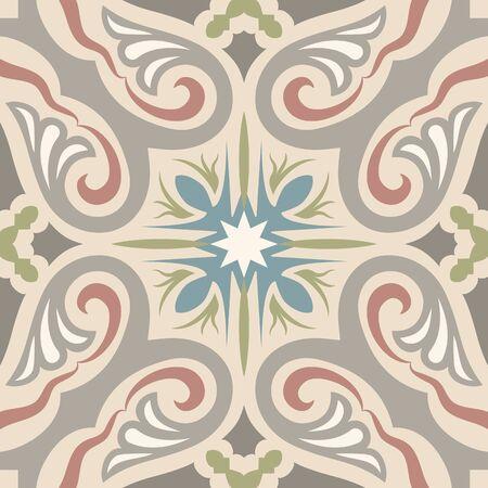 Encaustic tiles seamless pattern Vector Illustration