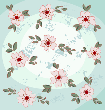 Almond blossoms set