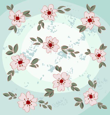 Almond blossoms set