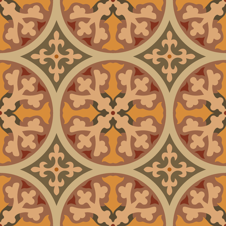 Encaustic tiles seamless pattern. Vector EPS 10