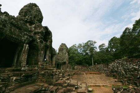 angkor thom: Ba-Yon Castle, Angkor Thom, Cambodia Stock Photo