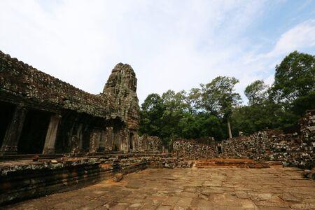 thom: Ba-Yon Castle, Angkor Thom, Cambodia Stock Photo