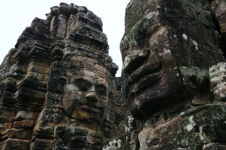 cambodia: Ba-Yon Castle, Angkor Thom, Cambodia Stock Photo