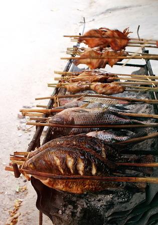 그릴: grill food 스톡 사진