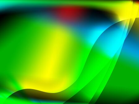 colorfull abstract backgrjund with green red and yellow space Stock Photo - 3379115