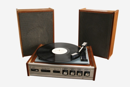 old player phonograph record
