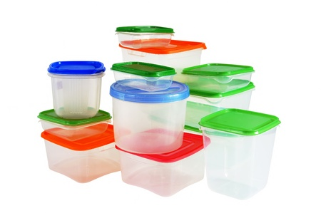 plastic: Transparent plastic boxes for storage of products