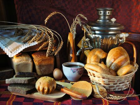 Still life with a variety of bread photo