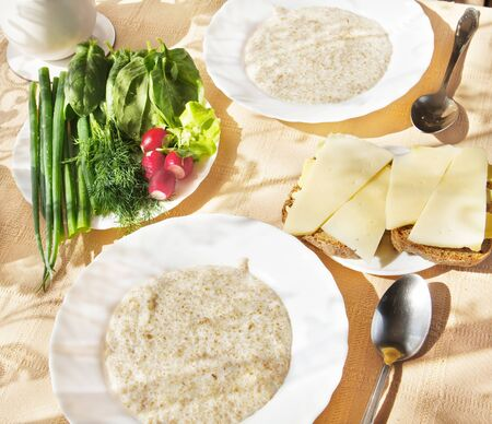Wheat porridge on breakfast Stock Photo - 9676412