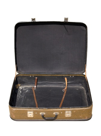 Old open suitcase photo