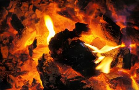 torrid: Burning coal in the furnace