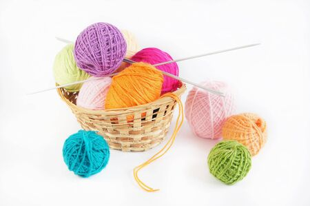 needlecraft product: Accessories for knitting Stock Photo