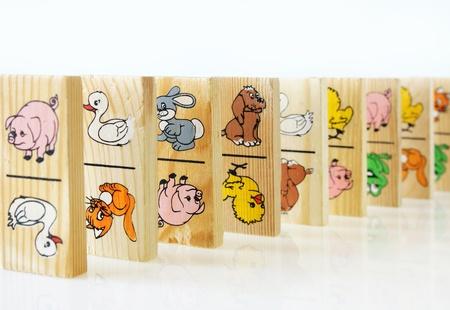 dominoes: children game of dominoes