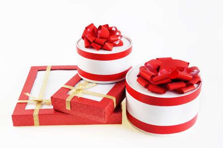 gift boxes on white background photo negle Images