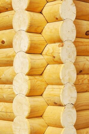 calibrated: The details of houses made of logs Stock Photo