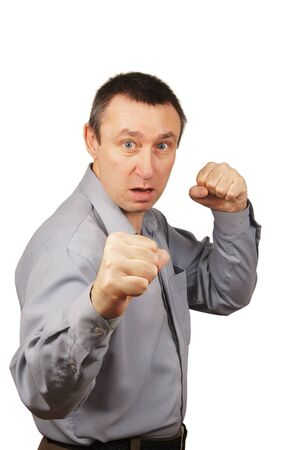 angry man is ready to fight Stock Photo - 12728714