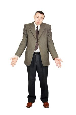 Verwirrt Mann macht eine hilflose Geste Standard-Bild - 12721677