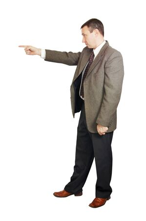 Man points a finger Stock Photo - 12729539