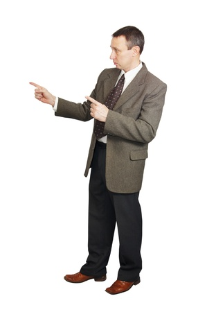 Man points a fingers Stock Photo - 12729537