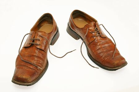 Pair of old male shoes Stock Photo - 12894142