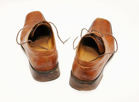 Pair of old male shoes Stock Photo - 12894139