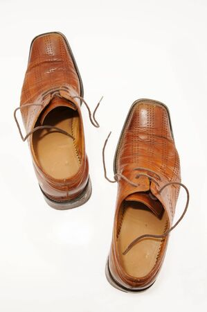 Pair of old male shoes Stock Photo - 12894140