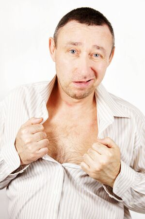 sleazy: Unpleasant man Stock Photo