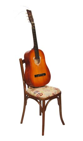 Guitar on a chair Stock Photo - 12894155