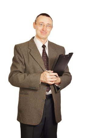 Office worker with a folder photo