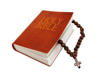 Holy Bible and rosary photo