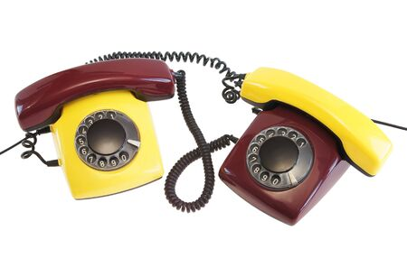 Old telephones photo