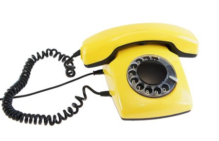 olden: Olden yellow phone Stock Photo