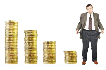 Financial crisis. Bankruptcy Stock Photo - 13086288
