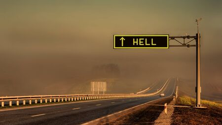 Road to hell Stock Photo