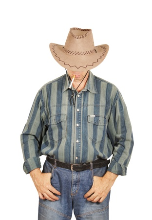 Cowboy isolated on white background photo