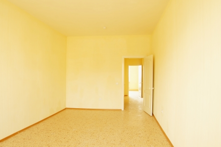 Interior of an empty room in new house photo