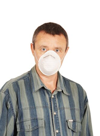 Worker in respirator Stock Photo - 14402054