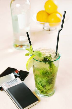 Mojito cocktail on the table Stock Photo - 15559433