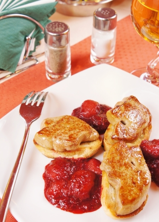 Foie gras on a laid table Stock Photo - 16059789