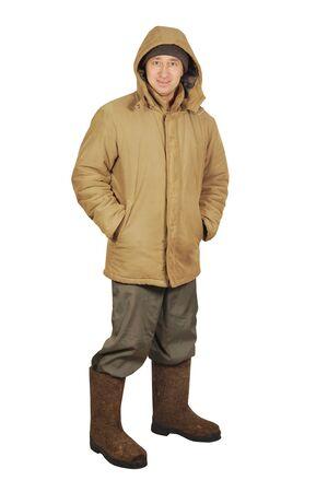 valenki: Man in winter clothes