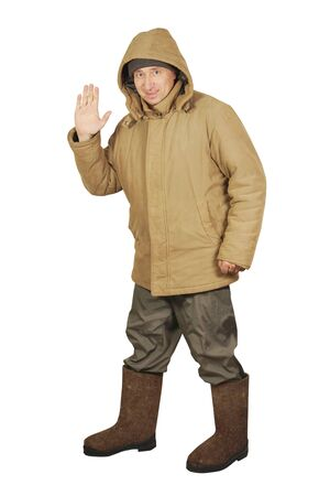 Warmly dressed man Stock Photo - 17362026