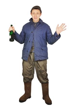 inebriation: Drunkard with a bottle