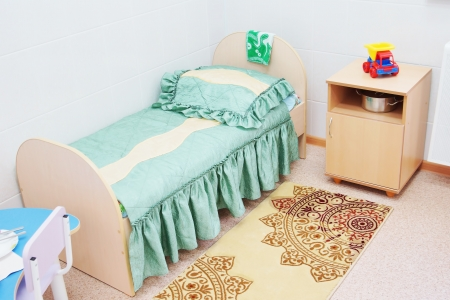 Furniture in a chamber of the children hospital Stock Photo