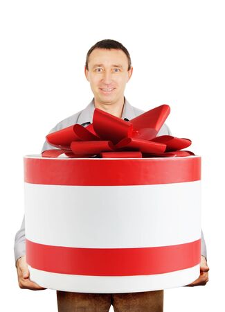 Man with a huge gift photo