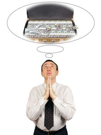 supplicate: Man seeks wealth
