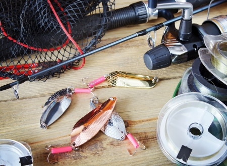 Fishing still life Stock Photo