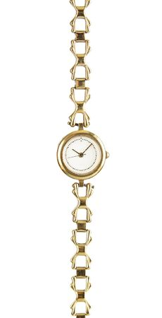 Female vintage  wrist watch isolated on white background Stock Photo - 18180287