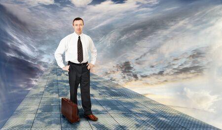 futuristically: Road To Future Stock Photo
