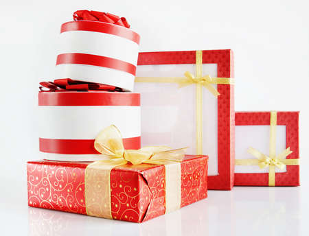 stupendous: Many Beautiful Gift Boxes Stock Photo