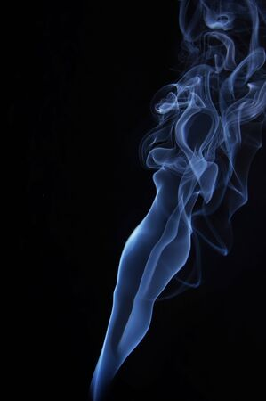 Image of beautiful nude madam made of fume